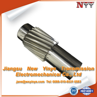 Steel Material and Helical Shape spider gear shaft