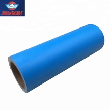 80mic 12inch Width 50ft Length Blue Self adhesive Stencil Film PVC Vinyl <strong>Roll</strong>