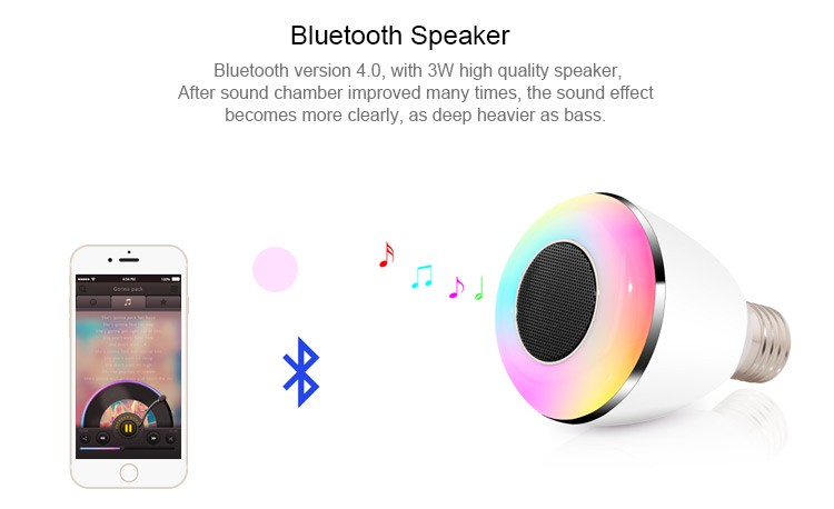 2017 Hot new products anker sub woofer led lamp smart app bluetooth speaker