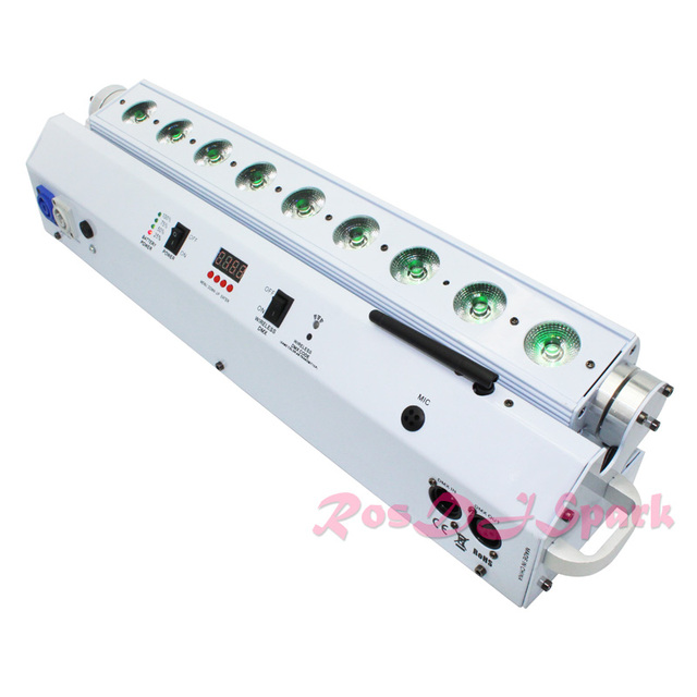 Emitting color LED KTV DJ stage bar light RGBWA+UV colorful IPhone control wall wash lighting / LED club effect bar light