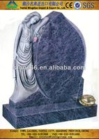 2013 HOT blue pearl granite headstone