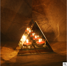 triangle arch simple glass candle holder