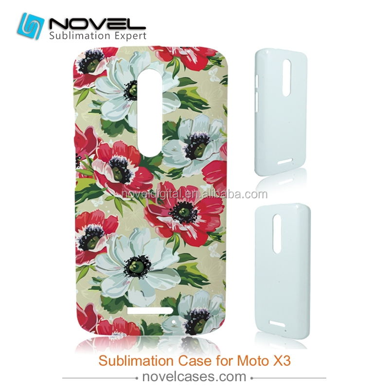 For Motorola X3 Glossy/Matt DIY 3D Sublimation phone case for printing-New Arrival, customized full-printig phone cover