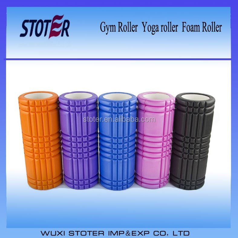 EVA balance hollow yoga roller ABS Tube Personal Logo Printed Foam Rollers 33*14cm foam roller