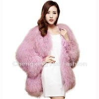 CX-G-A-111A Korea Ladies Fashion Clothing Mongolian Fur Winter Women's Coats