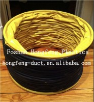 exhausted flexible PVC fabric duct with 8'' portable ventilation fan