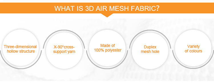 Comfortable 3d air mesh fabric 100%polyester scuba fabric for tent