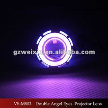 Motorcycle dual double angel eye halo rings bi-xenon projector lens light hid xenon projector lens headlight
