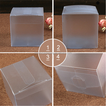 6X6X6cm Favor Transparent Plastic Gift Package Square Box Show Case