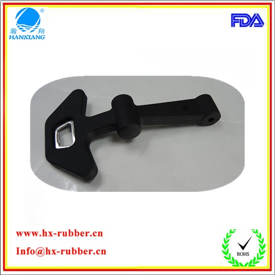 Custom new rubber handle latches with wine opener for cooler box