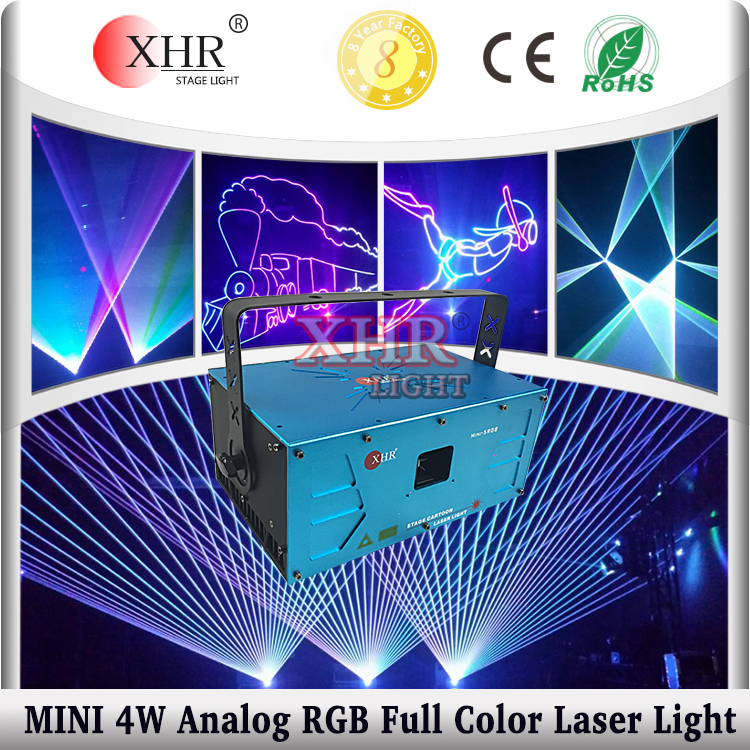 Mini 4W 4000mw Mini Multicolor Laser Projector,DMX/ILDA Laser Stage Lighting