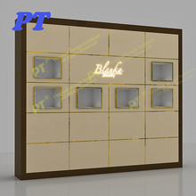 Fashion Wall Mounted Display Cabinets Shop Design Wooden Furniture Fashion Jewelry Showcase