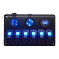 Combination Switch Type 6 GANG Rocker Switch Panel