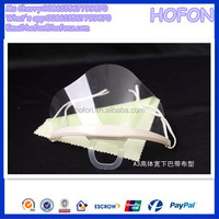 anti-fog transparent face mask for food service disposable hotel clear plastic masks with splash shield