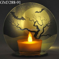 wholesale halloween glass candle holder decoration