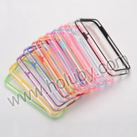 TPU+PC Hybrid Hard Bumper Frame Case for Samsung Galaxy S5 mini Transparent Two-tone Cover
