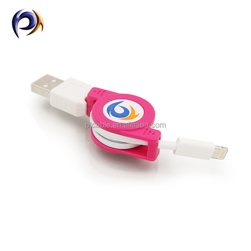 Retractable micro usb hotsync and charging cable roller for easy using