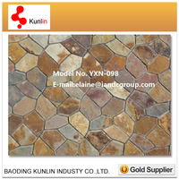 2015 Hot Cheaper Rusty Slate Paving Stone For Garden