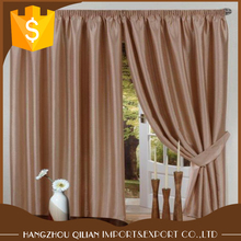 Solid Color Panel Top Grommet Curtain For Home Plain Faux Silk Ring Top Curtains