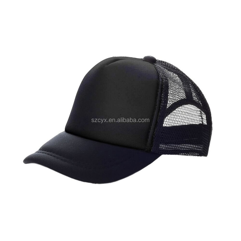 Kids Two Tone Plain Mesh Trucker Cap With Custmozied Logo