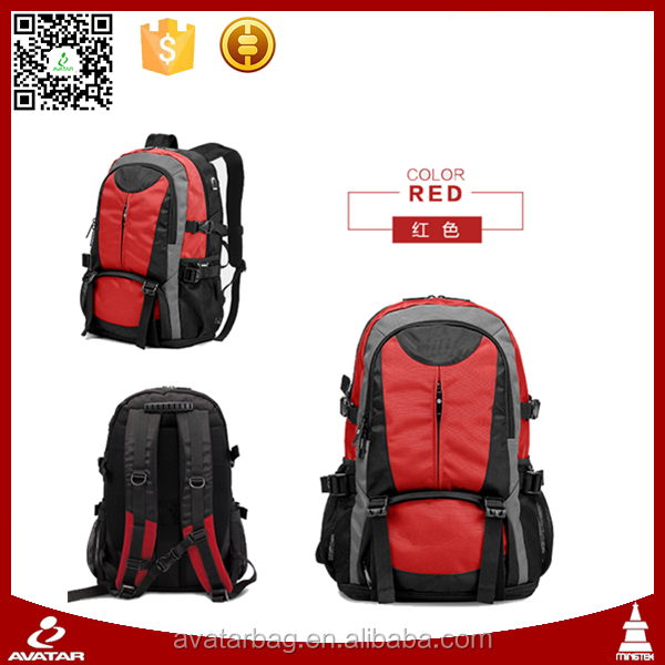 Big size color life sport backpack bag with earphone hole