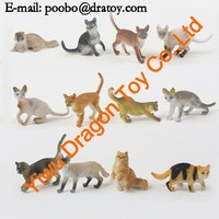 cheap sale 12pcs cute polyresin cat statue factory