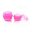 colorful mushroom shape 15ml 30ml 50ml 100ml PP plastic jar cosmetic container
