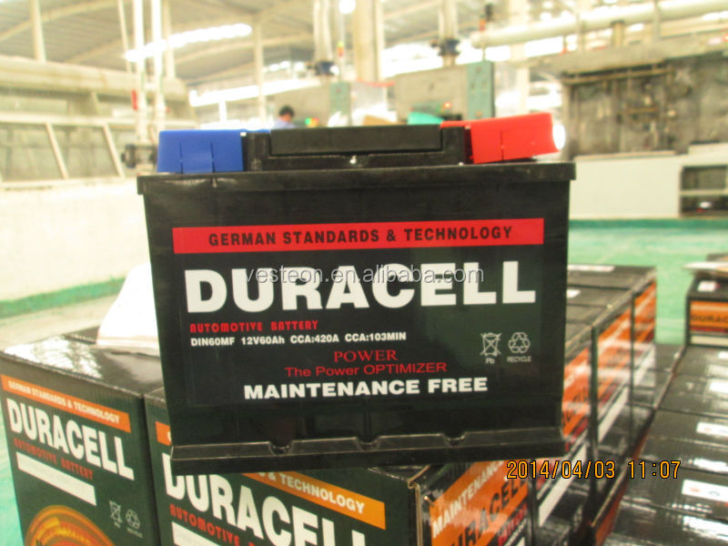 12V Duracell battery for car and truck