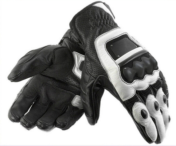 Reliable manufacturer custom made biker leather racing gloves