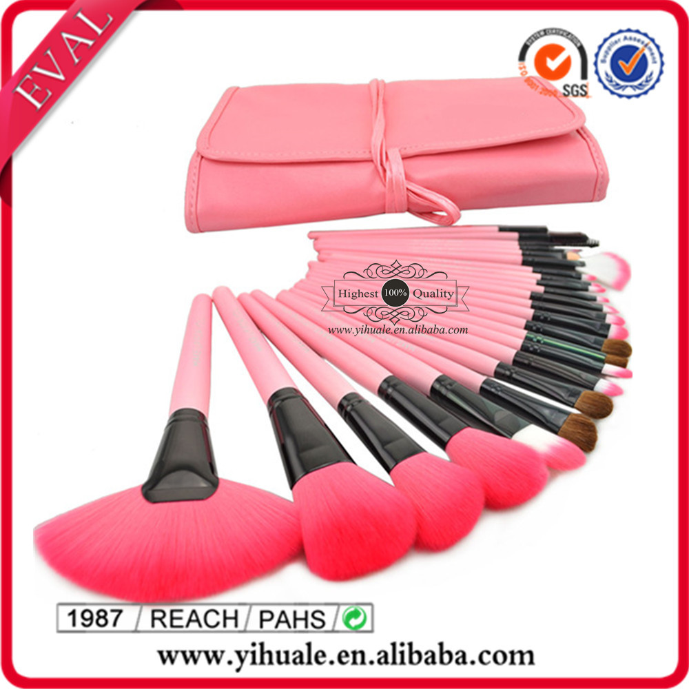 24pcs latest professional pink makeup brushes