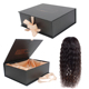 Free sample wholesale black bundles wig packaging custom hair extension box