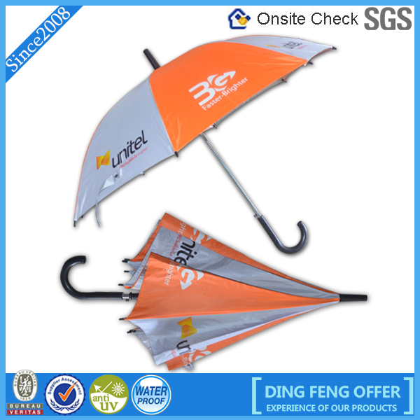 2015 Customized Advertising Straight Promotional Umbrella