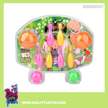 Sport toy basketball hoop and bowling set toy