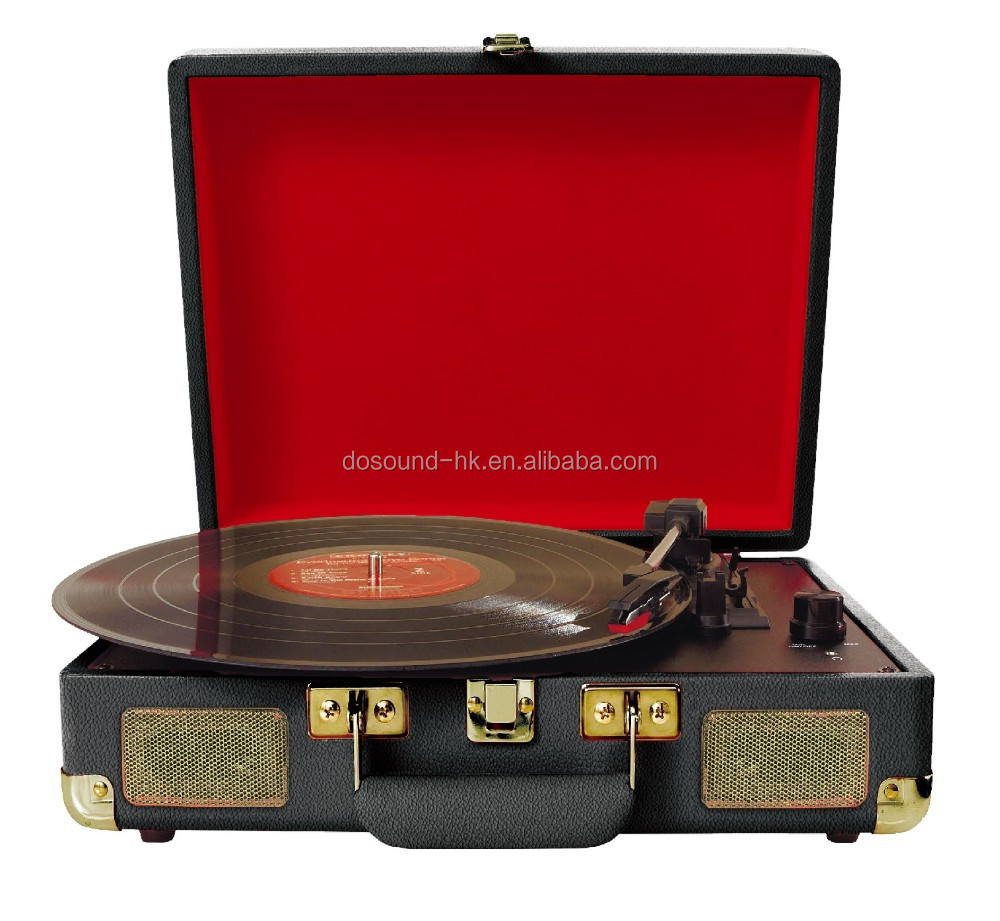 DS-101:USB connect turntable, portable suitcase turntable with bluetooth function