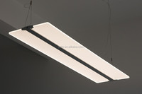 PDX3 suspended clear panel led ceiling light