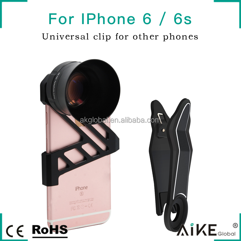 Optic HD Phone Lens 3X Universal Clip on Telephoto Mobile Parts Assembly for All Smart Phones