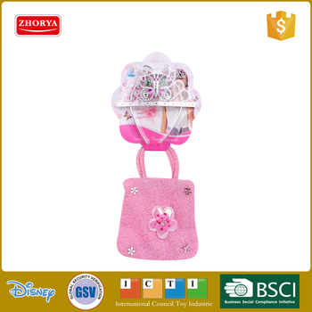 Zhorya clothing bag plastic crown for girls beauty series toys