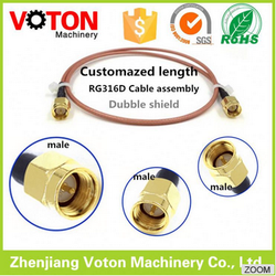 low price Customized Jump wire N jack and mcx connector RG316 cable assembly