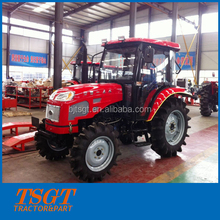 China factory supply top quality cabin 50hp 4wd farm wheel tractor with paddy tyre for rice land