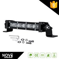 Super slim 7.5 inch single row light bar for jeep wrangler JK grille 4x4 led light bar