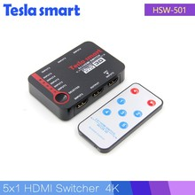 4K Video HDMI Switch Switcher Splitter 5 Port HDMI Switch With Remote
