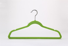 velvet flocked hanger for mens t shirt with logo