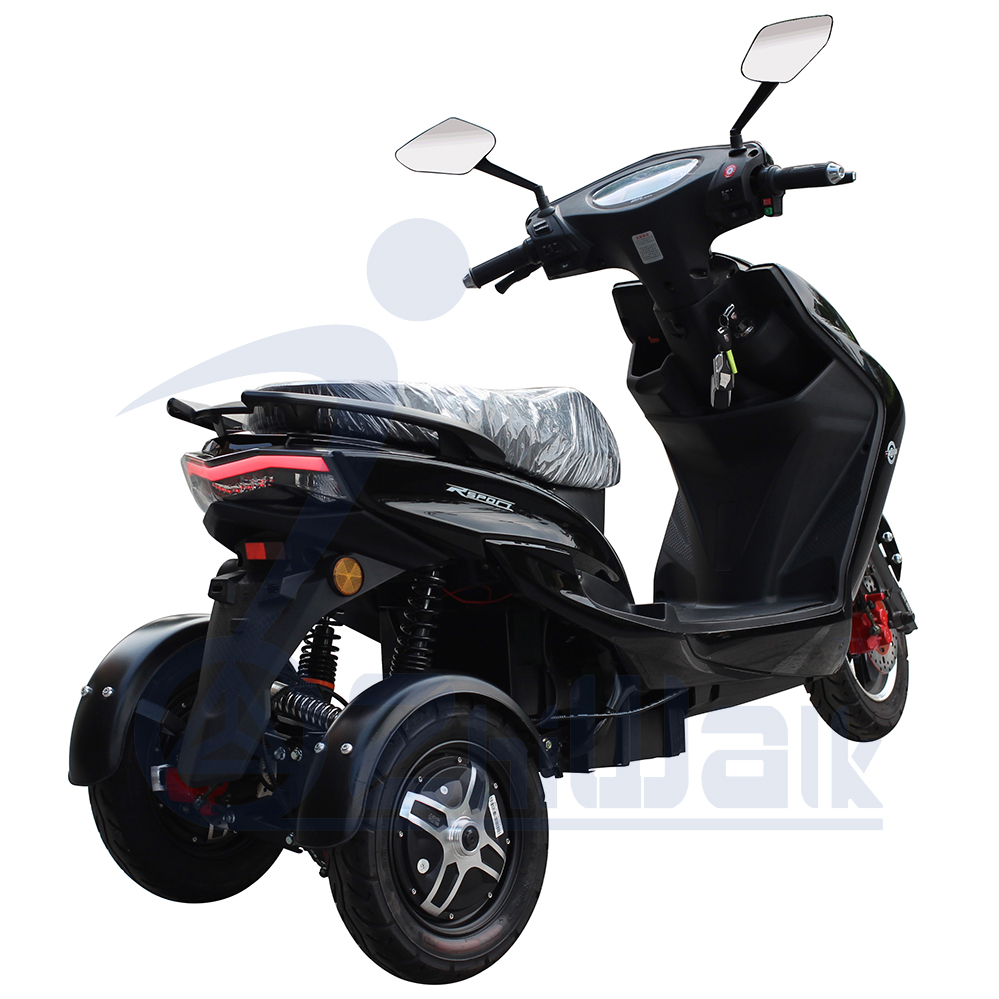 double driving tricycle motorbike/three wheels electric tricycle