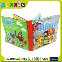 Alibaba top quality soft cloth book / brand cloth book