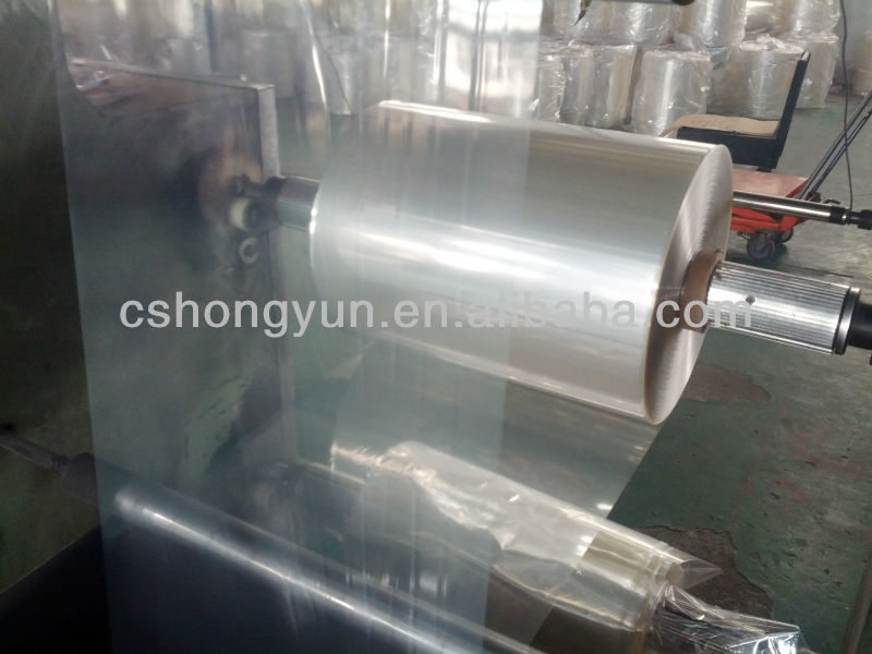 Plastic PVC heat shrink bottle packaging film in roll