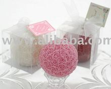 Beautiful Rose Ball Candle