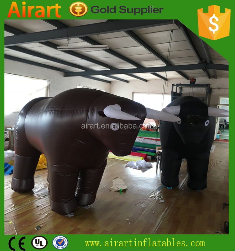 cartoon little inflatable bull costume for party used
