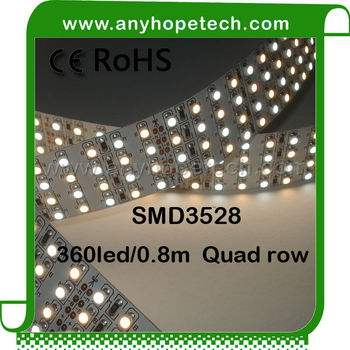 New arrival custom design quad row double color flexible led light strip diffuser