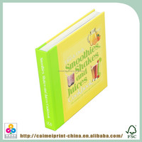 professional recipe hardcover cook book printing with high quality
