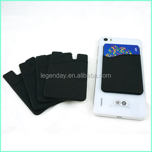Best Quality 3M Sticky Small Silicone Mobile Phone Card Holder